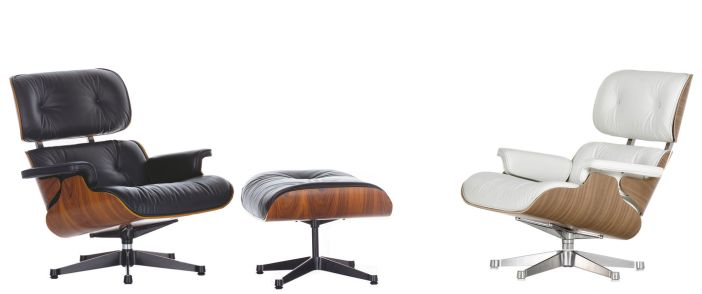 LOUNGE CHAIR + OTTOMAN de Charles et Ray EAMES