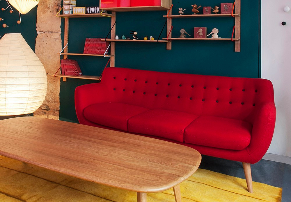 canape-rouge-3-places-coogee-sentou-trentotto-mobilier-design-toulouse-interieur